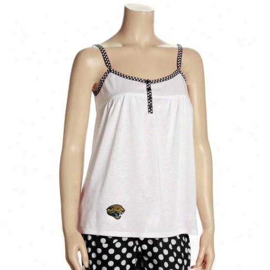 Jaguars Tshirts : Reebok Jaguars Ladies White Galayd Tank Top
