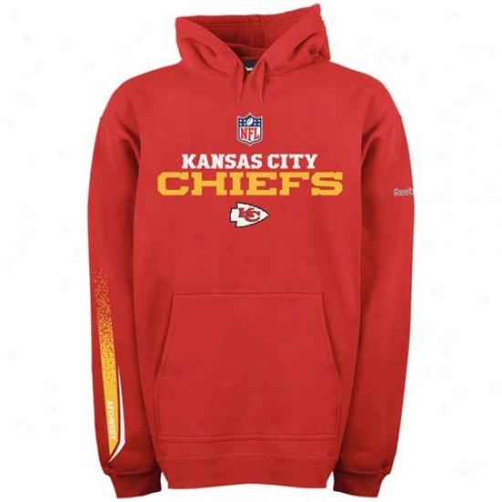 Kansas City Chief Hoodys : Reebok Kansas City Chief Red Optimus Hoodys