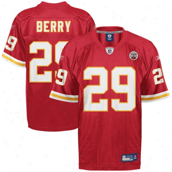 Kansas City Chief Jersey : Reebok Eric Berry Kansas City Leader Autograph copy Jersey - Red