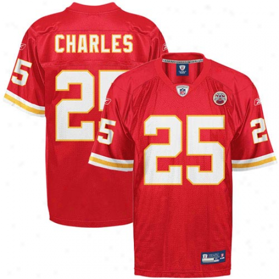 Kansas City Chief Jersey : Reebok Jamaal Charles Kansas City Chieftain Replica Jersey - Red