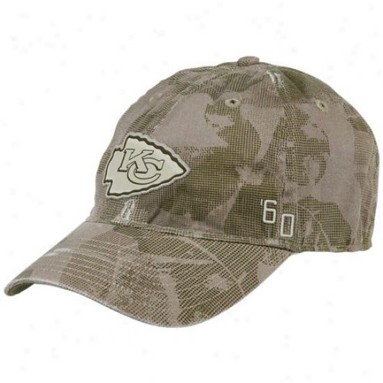 Kansas City Chief Merchandise: Reebok Kansas City Chief Natural Camo Concrete Flex Humor Slouch Hat