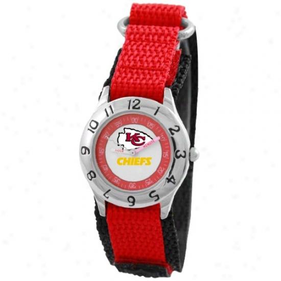Kansas City Chiwf Wrist Watch : Kansas City Chief Youth Red Time Teacher Wrist Watch