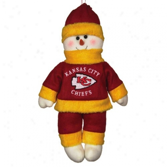 Kansas City Chiefs 10-inch Snowflake Friend Plush