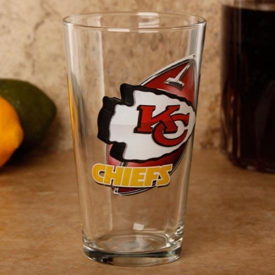Kansas City Chiefs 17 Oz. Enhanced Hi-def Mixing Glasss
