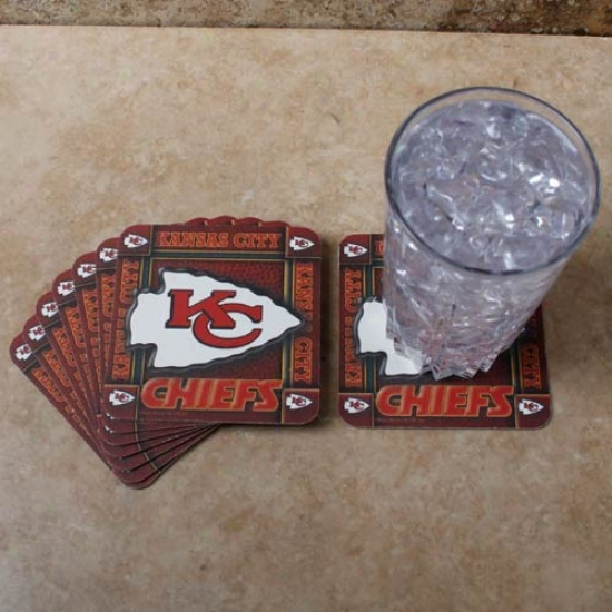 Kansas City Chiefs 8-pack Absorbent Ppaerkraft Coasters