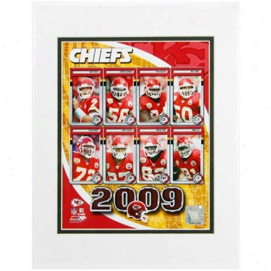 Kansas City Chiefs 8'' X 10'' 2009 Team CompositeM atted Photograph