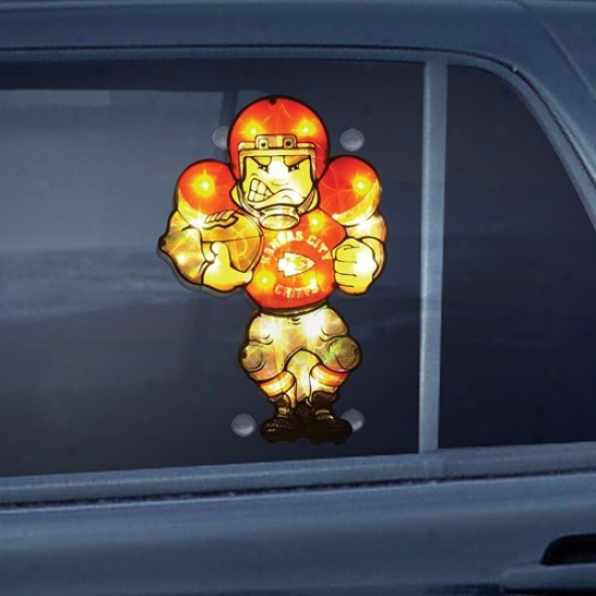 Kansas City Chiefs 9'' Double Sided Car Window Light-up Player
