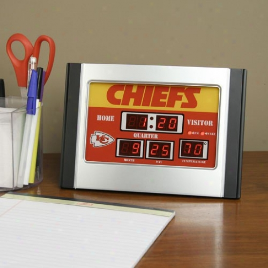 Kansas City Chiefs Alarm Scoreboard Clock