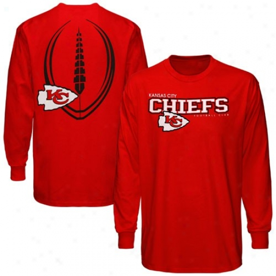 Kansas City Chiefs Attire: Reebok Kansas City Chiefs Red Ballistic Long Sleeve T-shirt