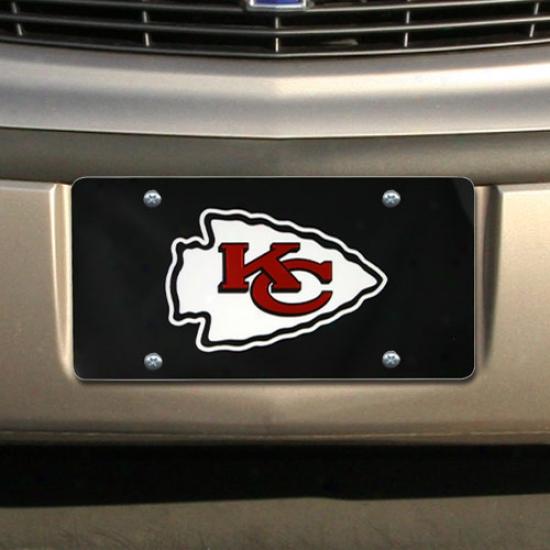 Kansas City Chiefs Black Mirror License Plate