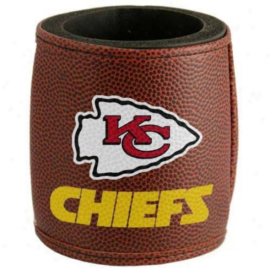 Kansas City Chiefs Brown Football Can Coolie