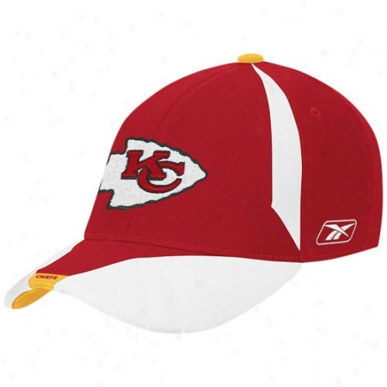 Kansas City Chiefs Cap : Reebok Kansas City Chiefs Youth Red Flex Fit Cap
