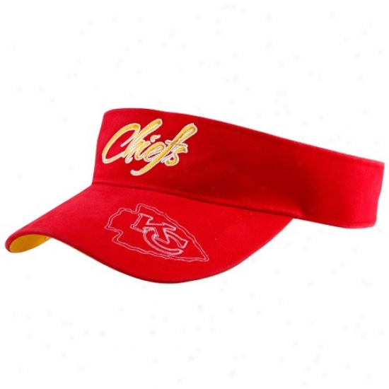Kansas City Chiefs Caps : Reebok Kansas City Chiefs Ladies Red Fashion Adjustable Visor
