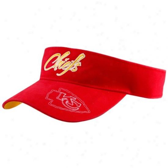 Kansas City Chiefs Caps : Reebok Kansas City Chiefs Ladies Red Fashion Adjustable Visor