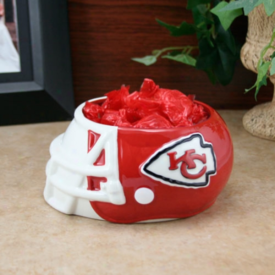 Kansas City ChiefsC eramic Helmet Bowl