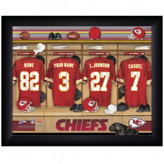 Kansas City Chiefs Customized Locker Room Black Framed Photo