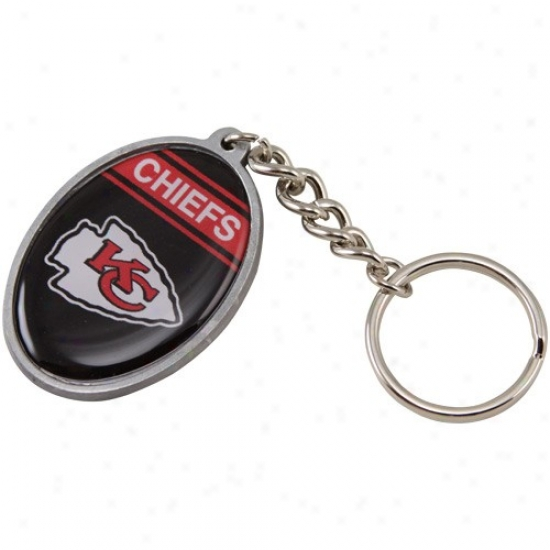 Kansas City Chiefs Domed Oval Keychain