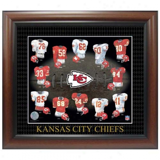 Kansas City Chiefs Evolution Of The Team Uniform Framed Picture