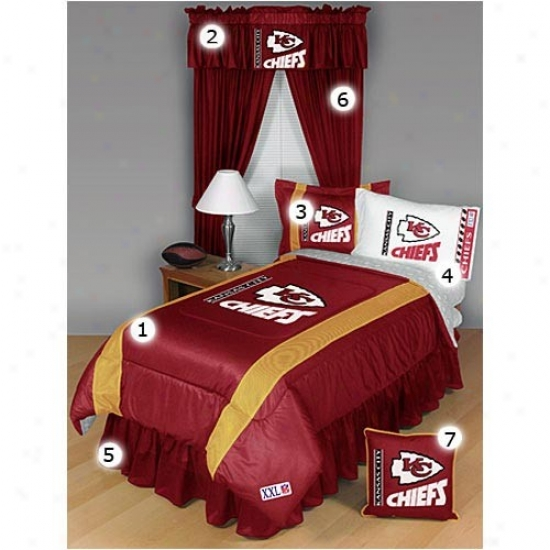 Kansas City Chiefs Full Size Sideline Bedroom Set