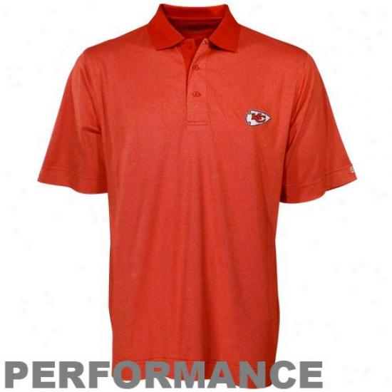Kansas iCty Chiefs Golf Shirts : Cutter & Buck Kansas City Chiefs Red Birdseye Golf Shirts