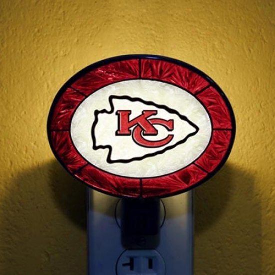 Kansas City Chiefs Hand-painted Glass Nightlight