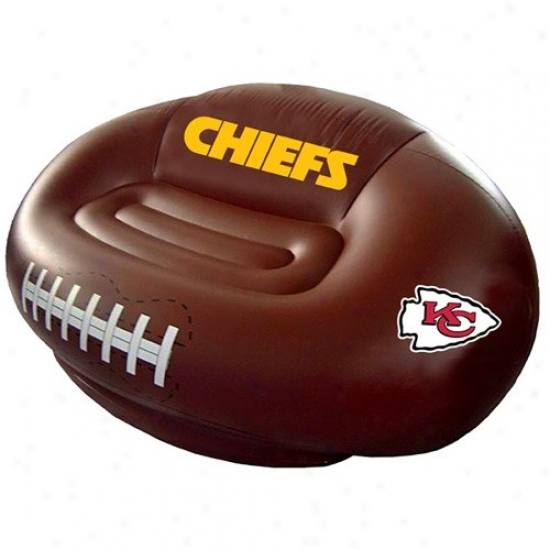 Kansas Cuty Chiefs Inflayable Football Sofa