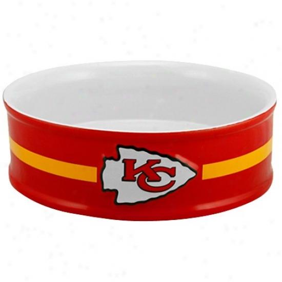 Kansas City Chiefs Large Ceramic Pet Bowl