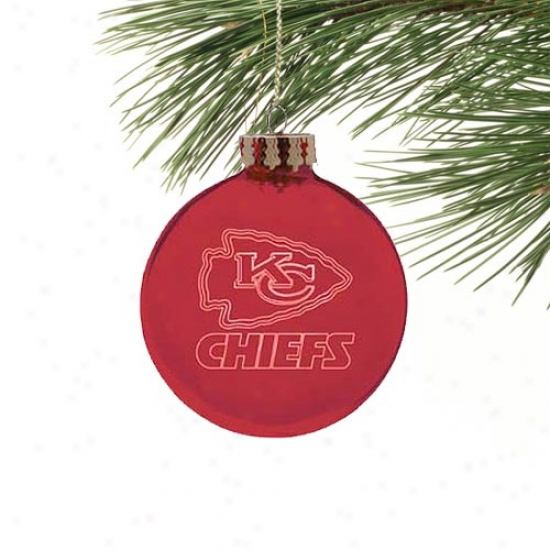 Kansas City Chiefs Laser Light Ornament