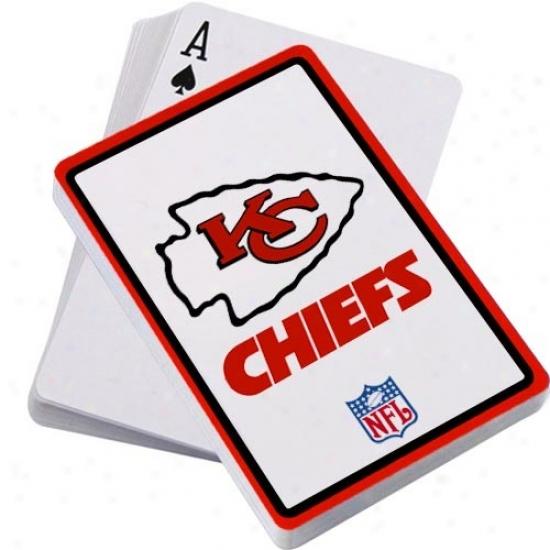 Kansas City Chiefs Logo Playing Cards