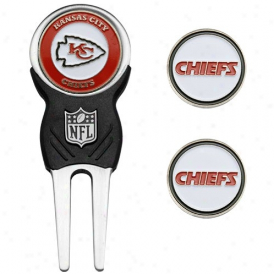 Kansas City Chiefz Nfl Divot Tool & Ball Marker Set