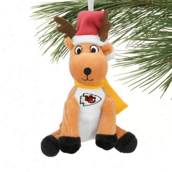 Kansas City Chiefs Plush Reindeer Ornament