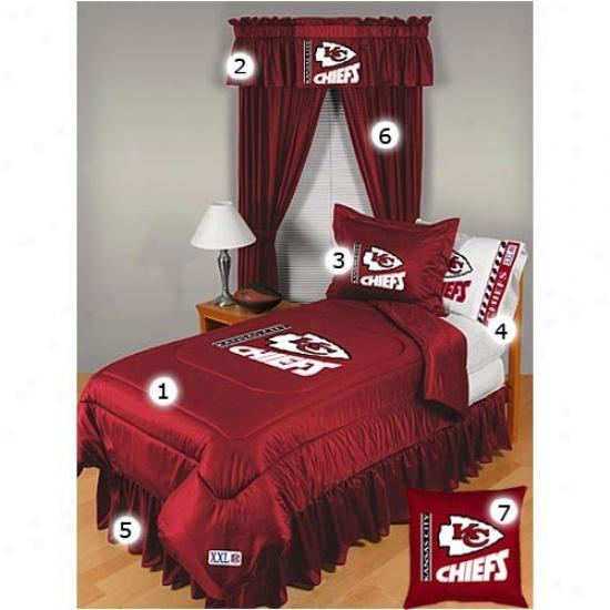 Kansas City Chiefs Queen Bigness Locker Room Bedrooom Set