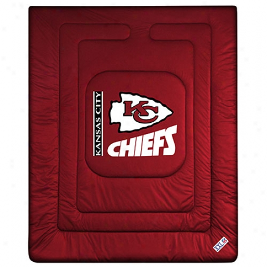 Kansas City Chiefs Queen/full Size Locker Room Comforter