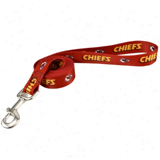 Kansas City Chiefs Red 6' Leash