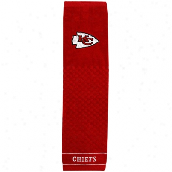 Kansas City Chiefs Red Embroidered Team Logo Tri-fold Towel