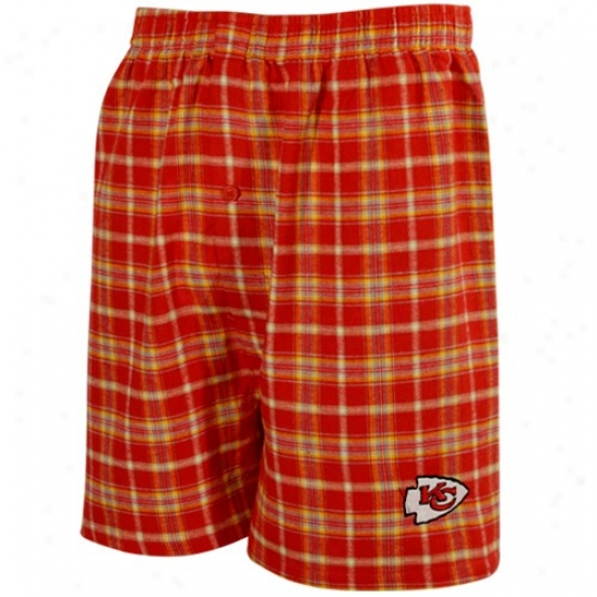 Kansas City Chiefs Red Fly Pattern Boxer Shorts