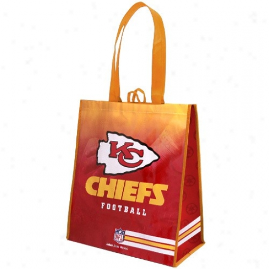 Kansass City Chiefs Red-gold Fade Reusable Tote Bag