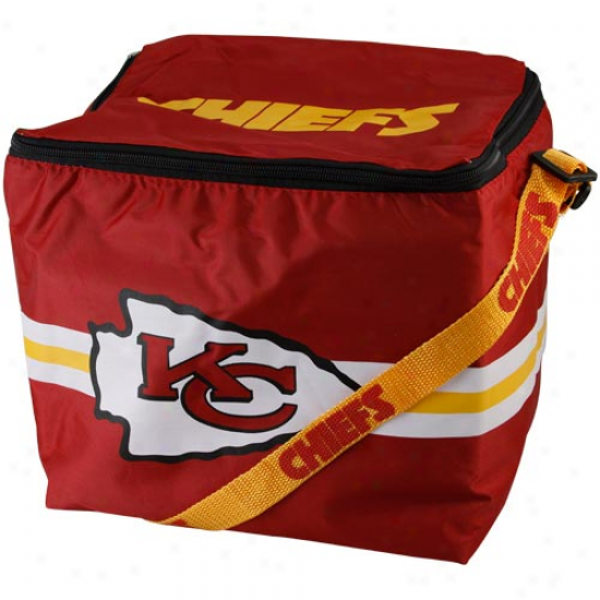Kansas City Chiefs Red Insulated 12-pack Cooler