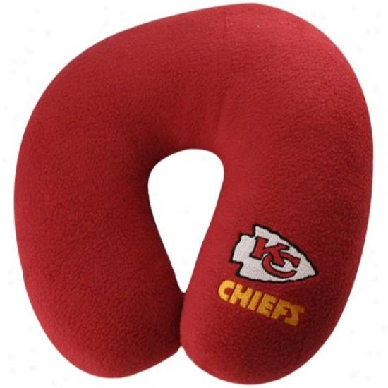 Kansas City Chiefs Red Neck Endure Travel Pillow