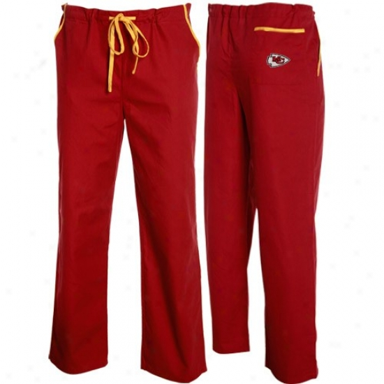 Kansas City Chiefs Red Scrub Pants