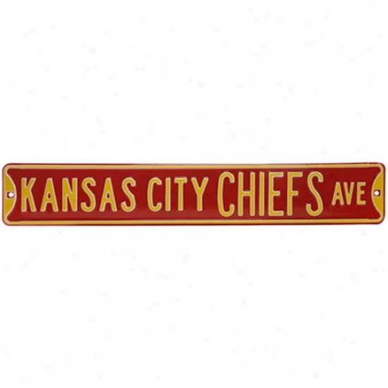 Kansas City Chiefs Red Steel Strwet Sign