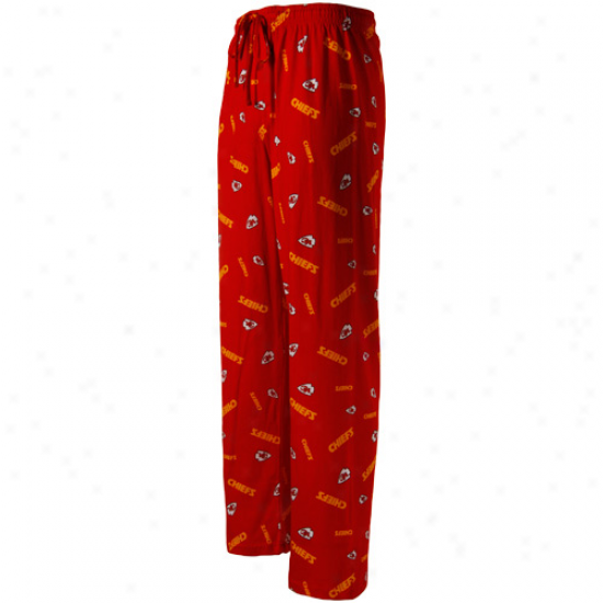 Kansas City Chiefs Red Team Faithful Ii Pajama Pants