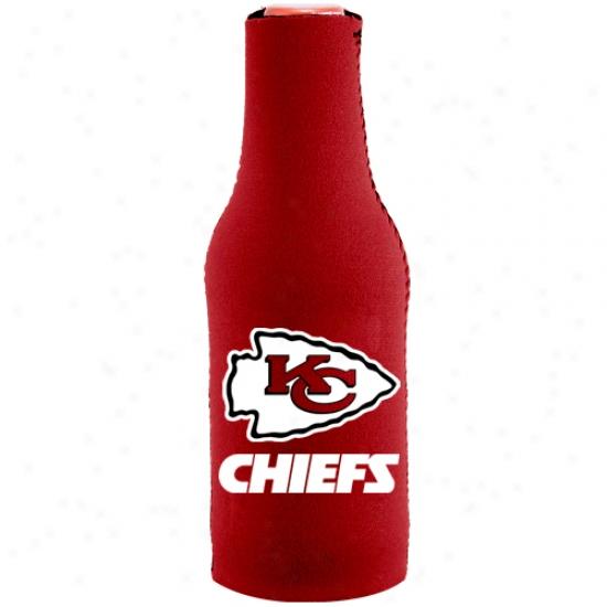 Kansas City Chiefs Red Team Logo Neoprene Bottle Coozie