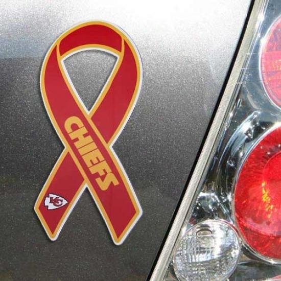 Kansas City Chiefs Ribgon Magnet