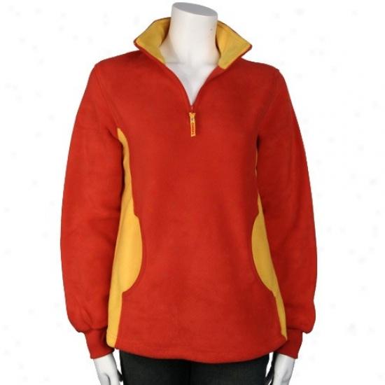 Kwnsas City Chiefs Sweatshirt : Kansas City Chiefs Red Ladies My Pride 1/4 Zip Pullover