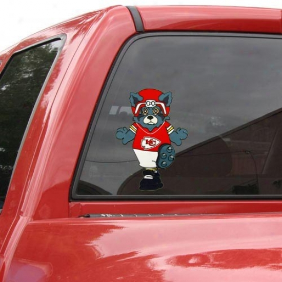Kansas City Chiefs Team Mascot 12'' Window Cling