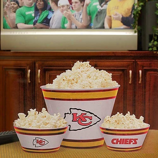 Kansas City Chiefs Three-piece Melamine Serving Set