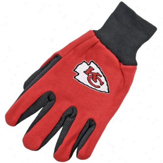 Kansas City Chiefs Two-tone Utility Gloves