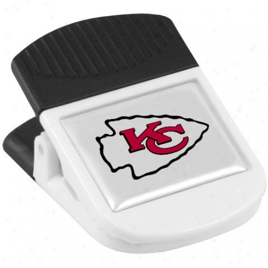 Kansas City Chiefs White Magnetic Chip Clip