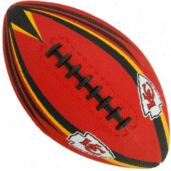 Kansas City Chiefs Youth Red Hail Mary Rubber Footballl
